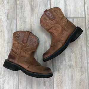 ARIAT | Leathef Fatbaby Saddle Boots 7